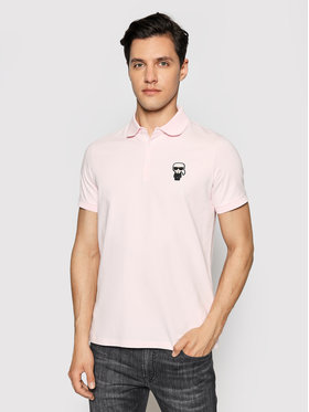 KARL LAGERFELD KARL LAGERFELD Polo marškinėliai 745021 511221 Rožinė Regular Fit