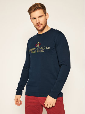 TOMMY HILFIGER TOMMY HILFIGER Longsleeve Small Crest Icon Ls Tee MW0MW15342 Σκούρο μπλε Regular Fit