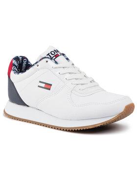 Tommy Jeans Tommy Jeans Laisvalaikio batai Casual Tommy Jeans Sneaker EN0EN00719 Balta