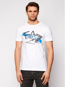 EA7 Emporio Armani EA7 Emporio Armani T-Shirt 3KPT30 PJACZ 1100 Bílá Regular Fit