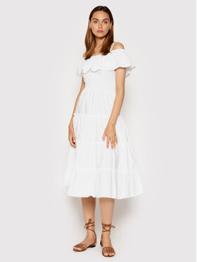 Rinascimento Rinascimento Sukienka letnia CFC0103583003 Biały Regular Fit