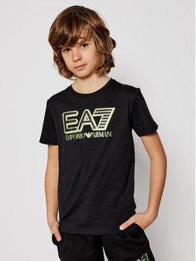 EA7 Emporio Armani EA7 Emporio Armani T-Shirt 6HBT53 BJ7CZ 1200 Czarny Regular Fit