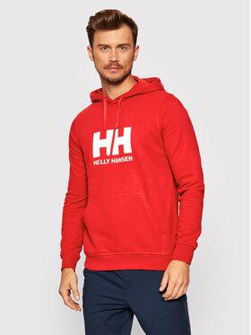 Helly Hansen Helly Hansen Bluza Logo 33977 Czerwony Regular Fit