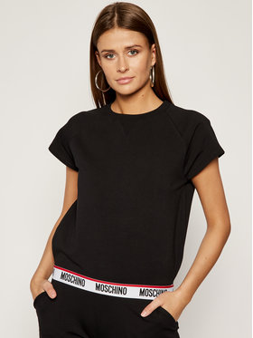 MOSCHINO Underwear & Swim MOSCHINO Underwear & Swim T-Shirt A1703 9027 Μαύρο Regular Fit