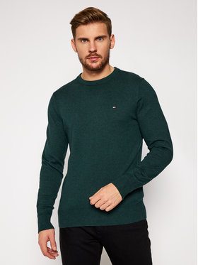Tommy Jeans Tommy Jeans Pullover Pima Cotton Cashmere Crew MW0MW11674 Grün Regular Fit