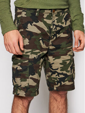 Quiksilver Quiksilver Pantalon scurți din material Crucial Battle EQYWS03456 Verde Tapered Fit