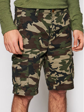 Quiksilver Quiksilver Szorty materiałowe Crucial Battle EQYWS03456 Zielony Tapered Fit