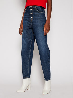 Tommy Jeans Tommy Jeans Mom Fit džinsai Recycled High Rise DW0DW09015 Tamsiai mėlyna Tapered Fit
