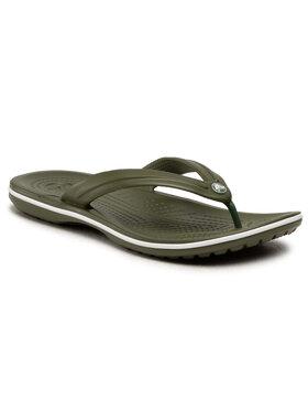 Crocs Crocs Šlepetės per pirštą Crocband Flip 11033 Žalia