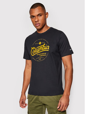 Columbia Columbia T-Shirt Path Lake Graphic Tee 1888793 Czarny Regular Fit