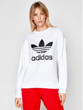 adidas adidas Džemperis Trefoil GN2961 Balta Regular Fit