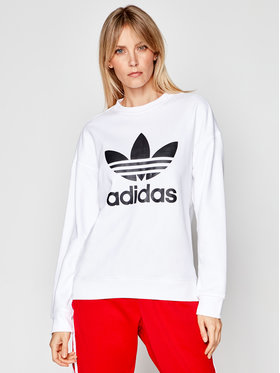 adidas adidas Суитшърт Trefoil GN2961 Бял Regular Fit
