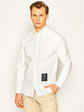 Tommy Hilfiger Košeľa Crest Label Shirt MW0MW10680 Biela Regular Fit