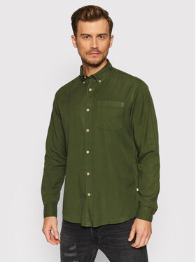 Selected Homme Selected Homme Chemise Rick 16077348 Vert Regular Fit