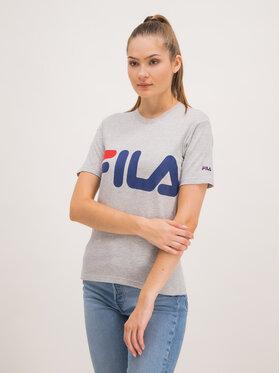 Fila Fila T-Shirt 680488 Szary Regular Fit