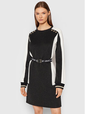 Liu Jo Sport Liu Jo Sport Плетена рокля TF1208 J6239 Черен Regular Fit