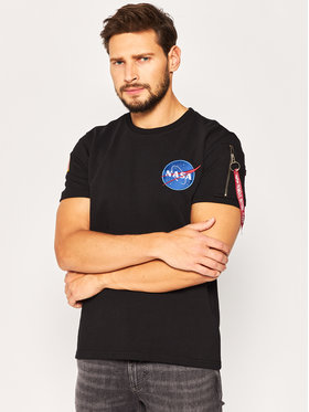 Alpha Industries Alpha Industries T-Shirt Nasa Heavy 188502 Czarny Regular Fit