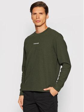 Calvin Klein Calvin Klein Bluza Lightweight K10K107338 Zielony Regular Fit