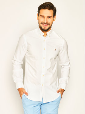 Polo Ralph Lauren Polo Ralph Lauren Πουκάμισο Core Replen 710549084 Λευκό Slim Fit