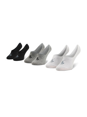 Polo Ralph Lauren Polo Ralph Lauren Lot de 3 paires de socquettes unisexe 449799742001 r. OS Noir