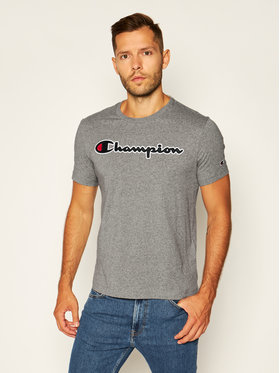 Champion Champion T-Shirt Logo 214194 Šedá Comfort Fit