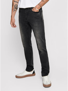 Only & Sons ONLY & SONS Farmer Loom 22010447 Fekete Slim Fit