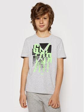 4F 4F T-Shirt HJL21-JTSM004B Grau Regular Fit