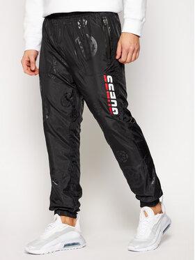Guess Guess Bavlnené nohavice All Over Print U0BA46 WDFH0 Čierna Regular Fit