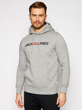 Jack&Jones Jack&Jones Pulóver Corp Old Logo 12137054 Szürke Regular Fit