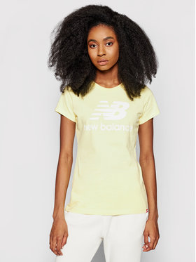 New Balance New Balance T-shirt Essentials Stacked Logo Tee WT91546 Giallo Athletic Fit