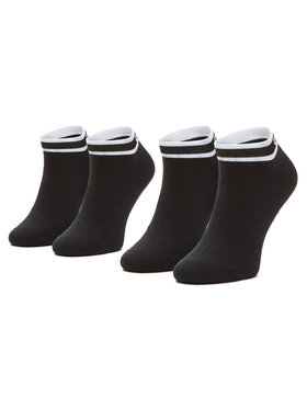 Calvin Klein Calvin Klein Комплект 2 чифта къси чорапи дамски 100001900 Черен
