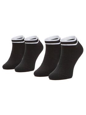 Calvin Klein Calvin Klein Σετ 2 ζευγάρια κοντές κάλτσες γυναικείες 100001900 Μαύρο