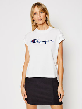 Champion Champion Bluză 112736 Alb Relaxed Fit