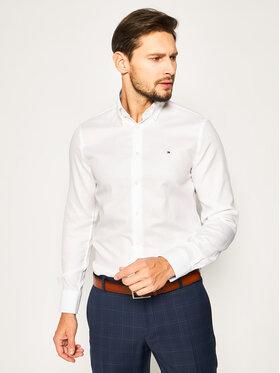 Tommy Hilfiger Tailored Tommy Hilfiger Tailored Košile Dobby TT0TT06638 Bílá Slim Fit