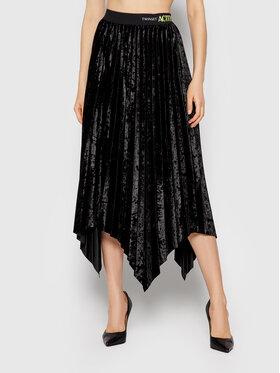 TWINSET TWINSET Plisovaná sukňa 212AT2342 Čierna Regular Fit