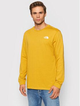 The North Face The North Face Тениска с дълъг ръкав Simple Dome NF0A3L3BH9D1 Жълт Regular Fit
