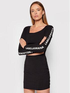 LaBellaMafia LaBellaMafia Ежедневна рокля 21703 Черен Slim Fit
