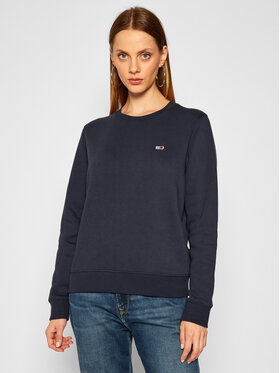 Tommy Jeans Tommy Jeans Džemperis Fleece DW0DW09227 Tamsiai mėlyna Regular Fit