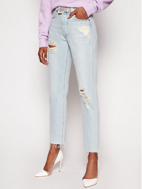 Guess Guess Jeansy Girly W1RA16 D3Y0I Modrá Iconic Fit