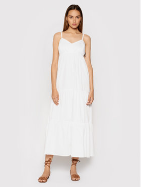 Rinascimento Rinascimento Sukienka letnia CFC0017921002 Biały Relaxed Fit