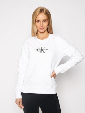 Calvin Klein Jeans Calvin Klein Jeans Суитшърт J20J215145 Бял Regular Fit