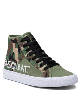 DC DC Sneakersy Basquiat Manual Hi ADYS300687 Zelená