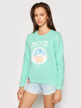 Alpha Industries Alpha Industries Sweatshirt Mission To Mars 126070 Vert Regular Fit