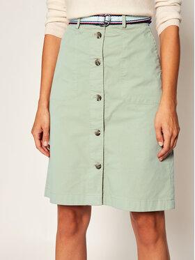 TOMMY HILFIGER TOMMY HILFIGER Mini sukně Cool Poplin WW0WW28585 Béžová Regular Fit