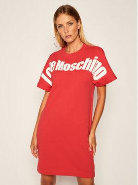 LOVE MOSCHINO LOVE MOSCHINO Vestito di maglia W5B7501 M4055 Rosso Regular Fit
