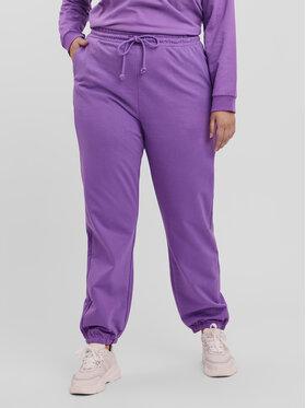 Vero Moda Curve Vero Moda Curve Spodnie dresowe Octavia 10256759 Fioletowy Regular Fit