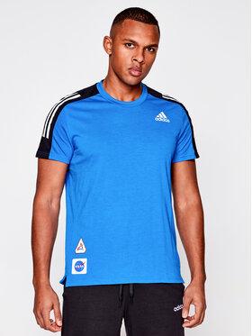 adidas adidas Koszulka techniczna Space Tee M GP5804 Granatowy Regular Fit
