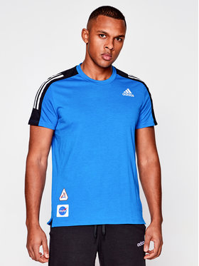 adidas adidas Φανελάκι τεχνικό Space Tee M GP5804 Σκούρο μπλε Regular Fit
