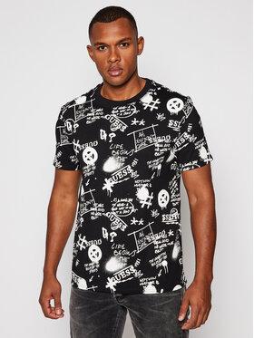 Guess Guess Marškinėliai Graffiti Tee M0BI92 I3Z11 Juoda Regular Fit