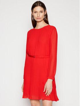 Calvin Klein Calvin Klein Každodenné šaty Ls Plisse K20K202662 Červená Regular Fit